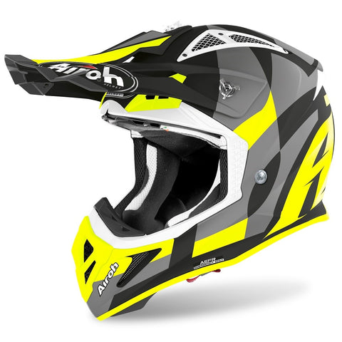 Airoh Aviator Ace Trick Yellow Matt Helmet