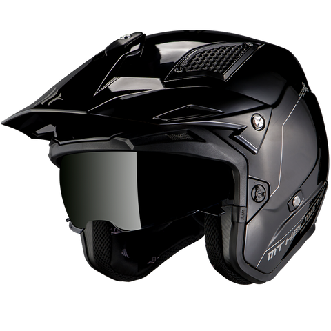 MT Helmets District SV Solid Gloss Black Helmet