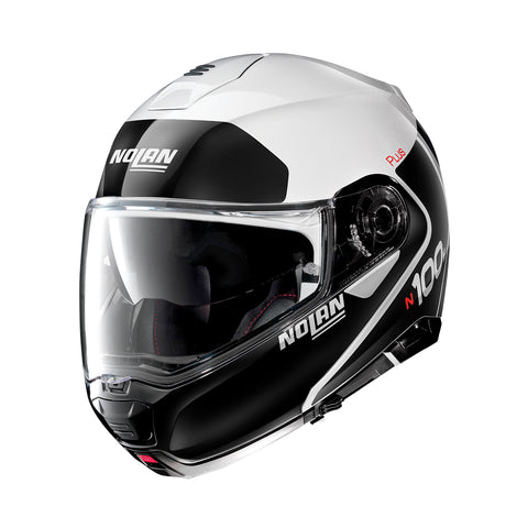 Nolan N100-5 Plus Distinctive 22 Metal White Helmet
