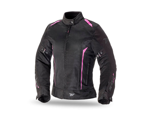 Seventy Degrees JT36 Summer Touring Woman Black/Pink Jacket