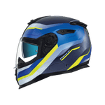 Nexx SX.100 Mantik Blue/Neon Yellow MT Helmet