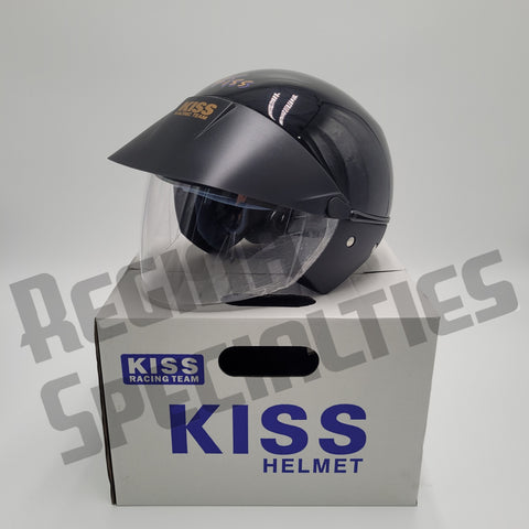KISS Gloss Black Helmet