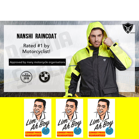 Nanshi Premium Motorcycle Raincoat (Upgraded Material)