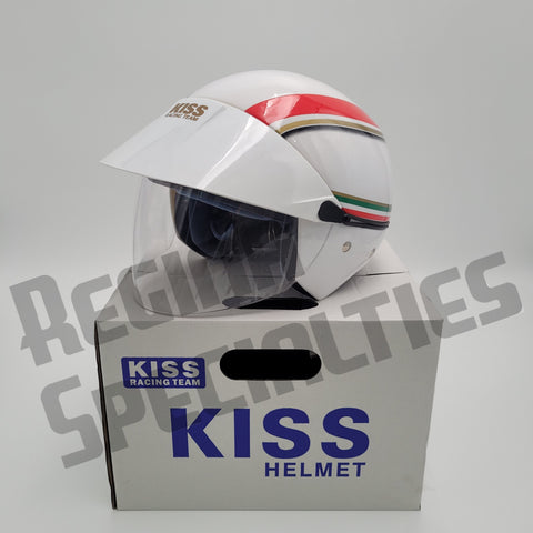 KISS #03 Green/White/Red LIMITED EDITION Helmet