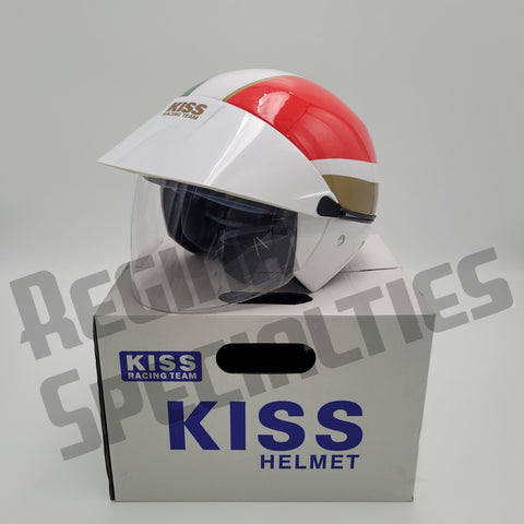 KISS #01 Green/White/Red LIMITED EDITION Helmet