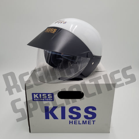 KISS Gloss White Helmet
