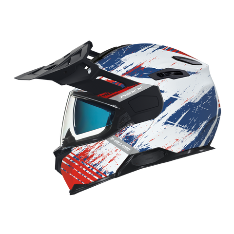 Nexx X.Vilijord Mudvalley White/Blue/Red Helmet