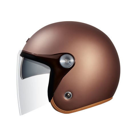 Nexx X.G10 Clubhouse SV Chocolate Brown MT Helmet