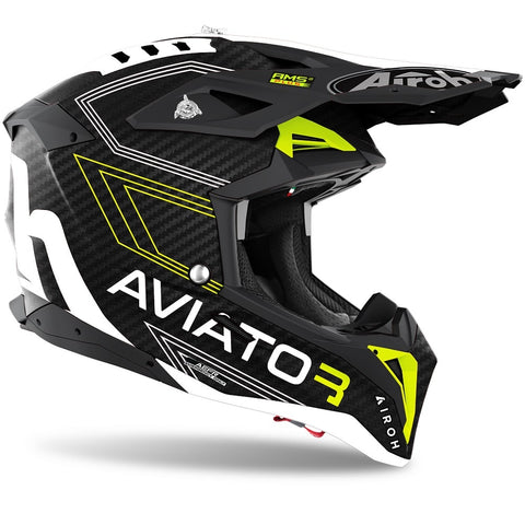 Airoh Aviator 3 Primal Yellow Matt Helmet