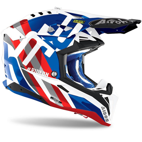 Airoh Aviator 3 Rainbow Blue/Red Gloss Helmet