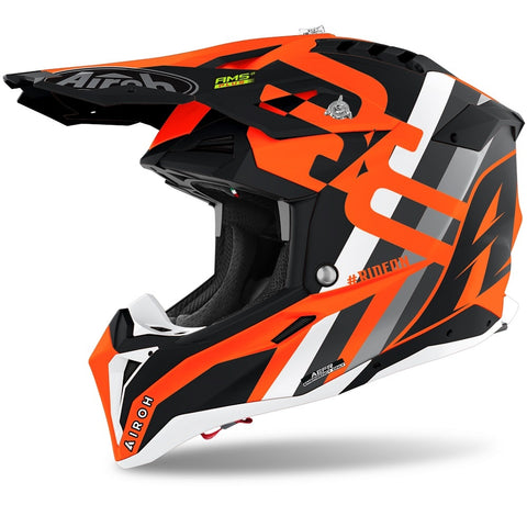 Airoh Aviator 3 Rainbow Orange Matt Helmet