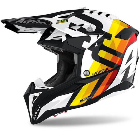 Airoh Aviator 3 Rainbow White Gloss Helmet