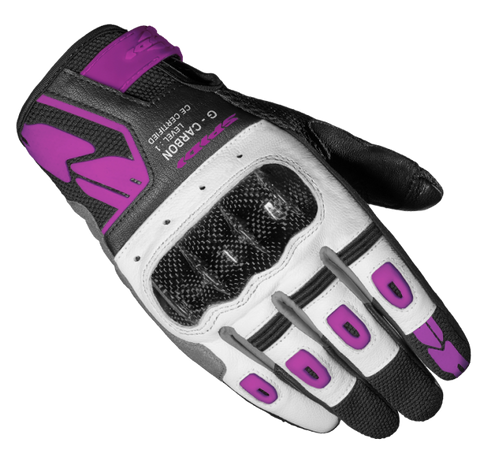 Spidi G-Carbon Black Fuchsia Lady Glove