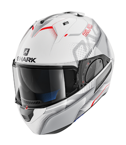 Shark Evo-One 2 Keenser White Silver Red Helmet (WSR)