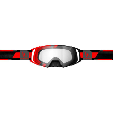 MT Helmets MX Evo Stripes Black/Red Goggle
