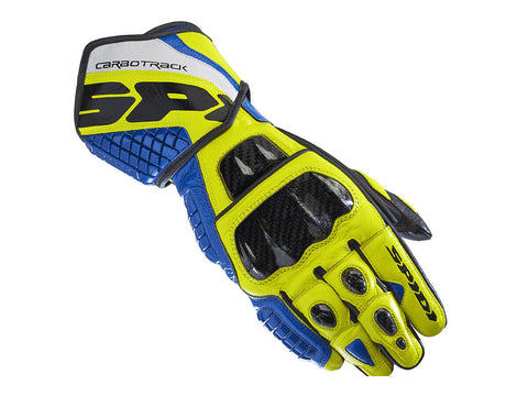 Spidi Carbo Track Evo Blue/Yellow Glove