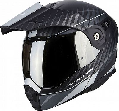 Scorpion ADX-1 Matt Black/ Silver Helmet