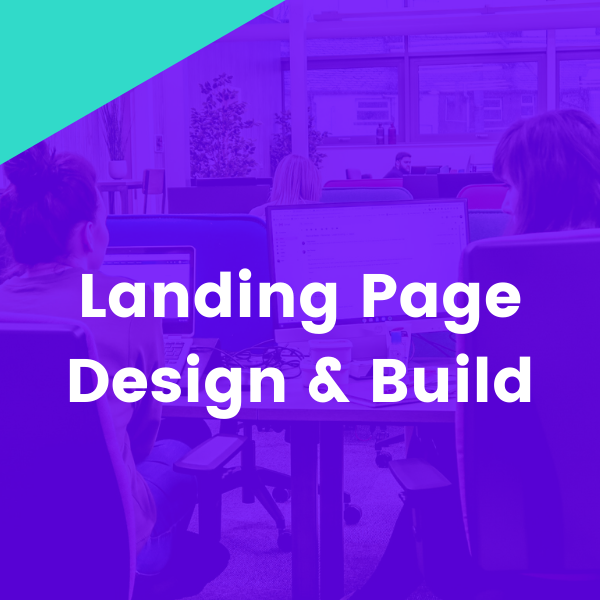 Landing page design and build