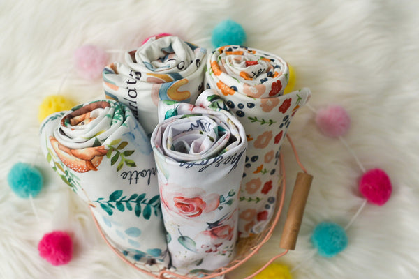 personalized easter basket blankets