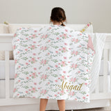 Abigail Floral Minky Deluxe Throw