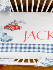 classic cars crib sheet for baby boy