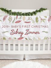 baby's first christmas personalized minky deluxe blanket