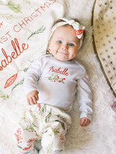 baby's first christmas outfit with name