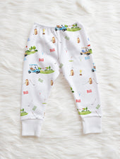 personalized gift for baby. baby boy leggings. golfer baby