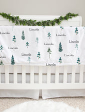 bryce canyon pine tree baby deluxe blanket