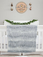 gray fur baby blanket