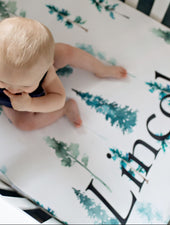 Personalized baby boy crib sheet adventure nursery baby boy gift A Great Baby sheet