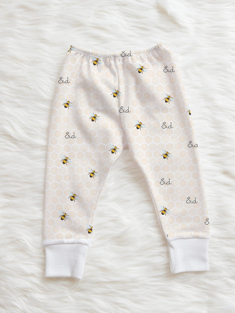Baby girl leggings personalized bumble bee summer clothes for baby