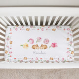 Bunny Garden Crib Sheet