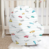 Cars and Things That Go Car Seat Cover