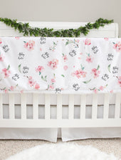 cherry blossom personalized plush minky baby blanket