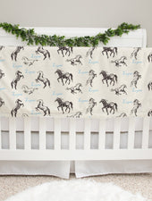 wild horses baby blanket for boys