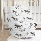 Christina's Wild Horses Boy Car Seat Cover