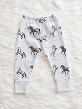 personalized cowboy horse leggings for baby toddler boy
