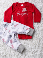 Personalized Christmas outfit for baby