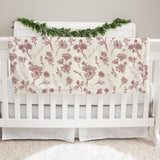Colleen Floral Mauve Baby Deluxe Blanket