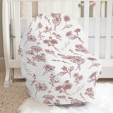 Colleen Floral Mauve Car Seat Cover