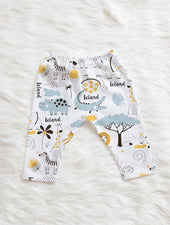 Colorful Jungle print baby boy pants