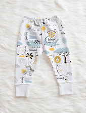 jungle animals personalized baby pants for boy