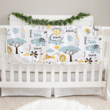 Colorful Jungle Blue Baby Deluxe Blanket
