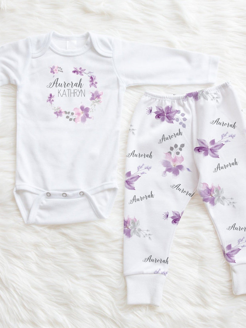 crystal jean lavender baby girl outfit