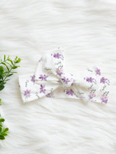 lavender floral baby girl headband