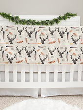 deer and antler personalized minky baby blanket