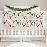 Deer and Antler Baby Deluxe Blanket