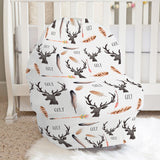Deer and Antler Car Seat Cover