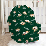 Dorothy Emerald Floral Car Seat Cover